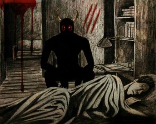 demonio-y-mujer-que-duerme-500x400