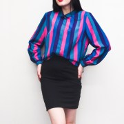 vintage stripe stripes blouse top colourful colorful