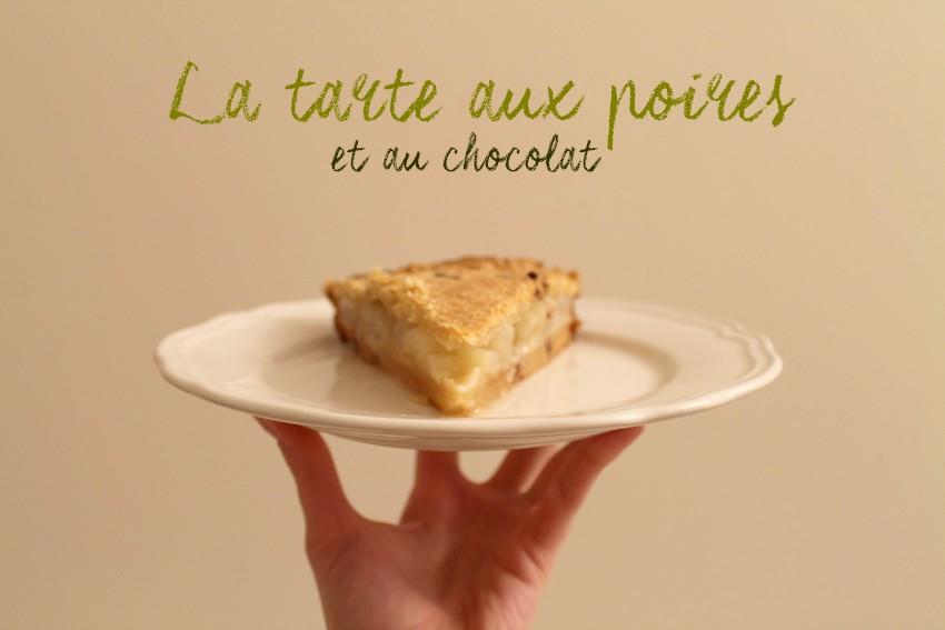 La tarte aux poires et au chocolat v1 1