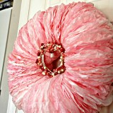 Coffee Filter Wreath for Valentine's Day