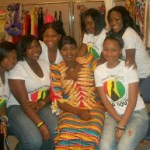 Back Stage , the girls with Guinea's own Aya Diawara from the National TV