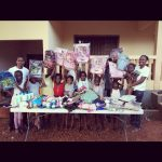 BAWAproviding orphan kids with school supply in Guinea