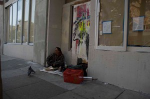 A man who calls himself Wolf was camped in front of 1132 Valencia St.