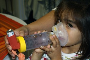 Arianna uses several inhalers every day because of her asthma.
