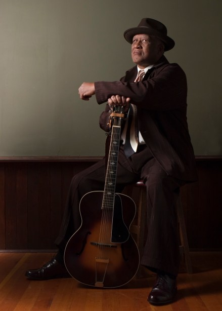 Henry Oden performs blues at Mission Branch Library on Friday, Jan. 15