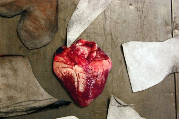 Deep inside Art Explosion's maze of studios is a red, red heart