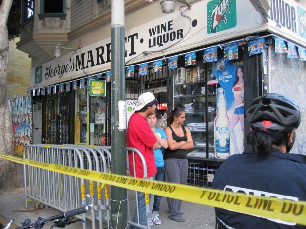 The shooter pursued the victim into George's Market