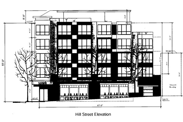 The proposed building. Courtesy of the Planning Department.
