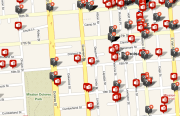 Reported assaults around Dolores Park between May 23rd and August 31st.