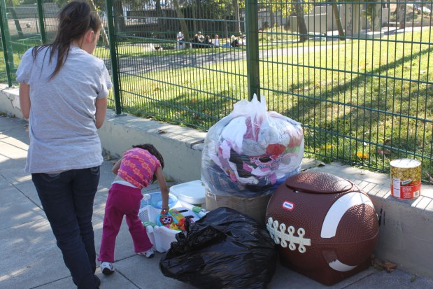 Items collected during a neighborhood event.