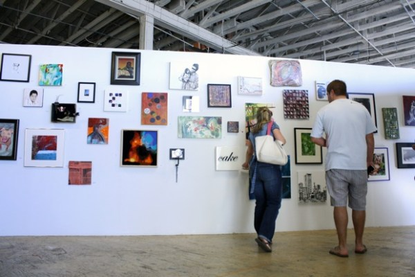 Viewers took advantage of the creative bonanza on display at Art Explosion on 17th Street.