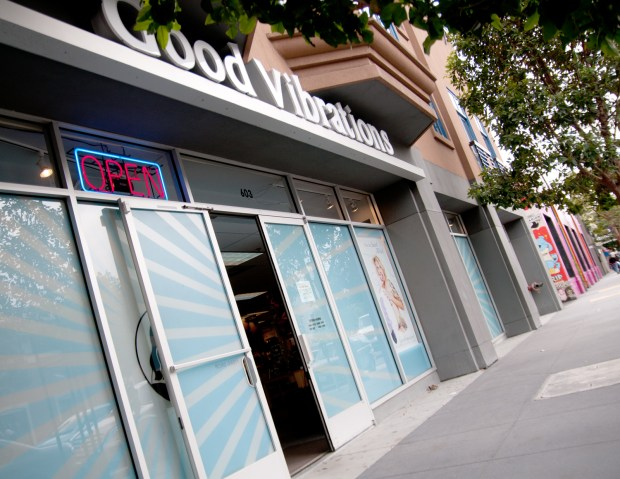 Good Vibrations originally started in the Mission District and later moved to this Valencia Street location.