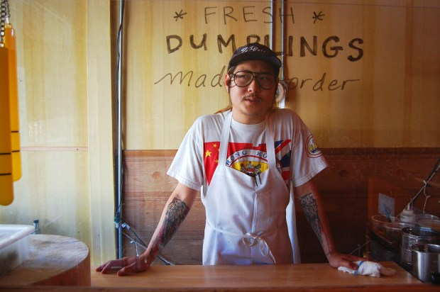 Danny Bowien, at Mission Chinese Food.