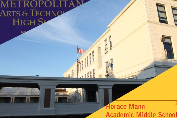 Horace Mann Middle School and Metropolitan High School have been sharing the same facility for five months.