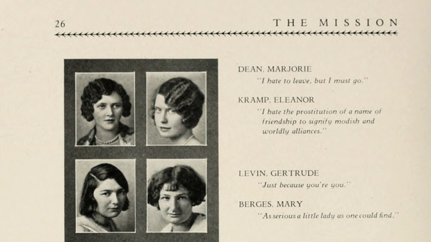 "Eleanor Kramp, upper right ""I hate the prostitution of a name of friendship to signify modish and worldly alligiances."""