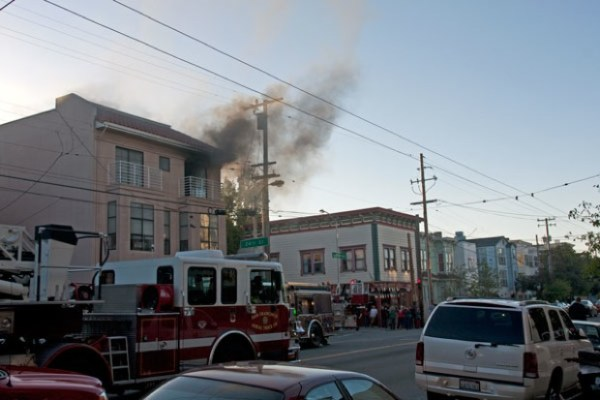 The fire department was there almost immediately.