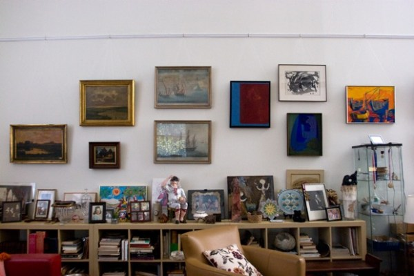 In Brenda Kett's space there is room for her lively and provocative display of art collected over the years from around the world.