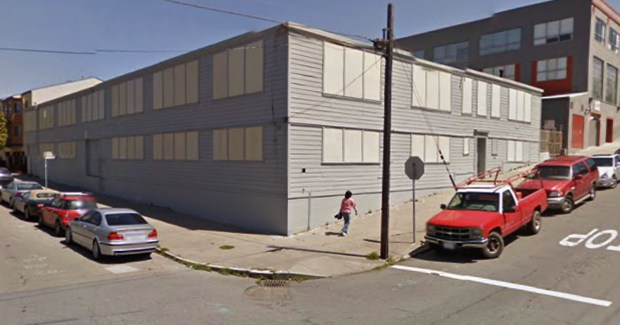 A warehouse on 18th and Hampshire streets offers a glimpe into 19th century San Francisco. Photo courtesy of Google Maps