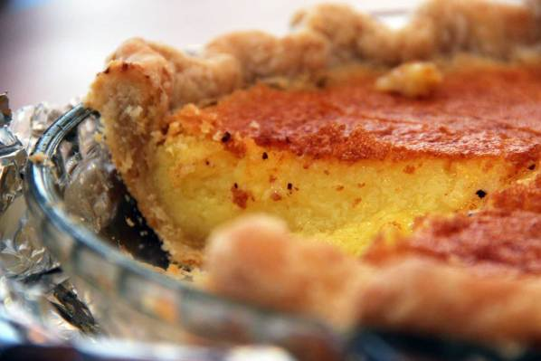 With a flaky butter pie crust, this lemon chess pie took second place at the 2012 Mission Pie Baking Contest. Photo by Jessica Naudziunas.