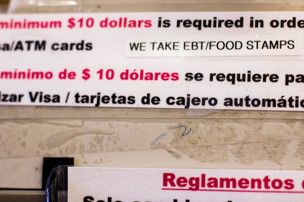 cash register covered in language concerning purchases