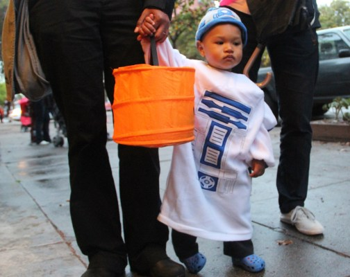 14-month-old Takeo, dressed as R2-D2. Photo by Mateo Hoke