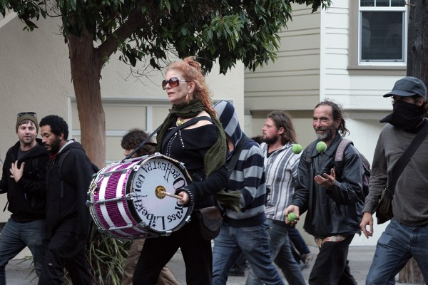 Protesters marched from Dolores Park to Castro and 18th streets without incident, police said. Photo by Rigoberto Hernandez.