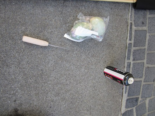 An ice pick and a spray can. Photo courtesy of SFPD.