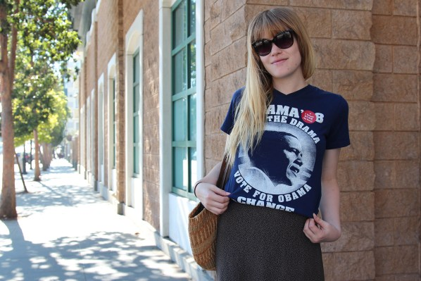 Betsy Roszkowiak, 23, of Dema Boutique spotted on 17th and Valencia streets. Photo by Yousur Alhlou.