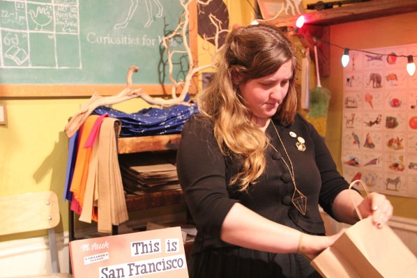 """""""I don't think it's more busy than normal because of Black Friday,"""" said Sarah Diamond, who works at Paxton Gate's Curiosities for Kids in the Mission."""