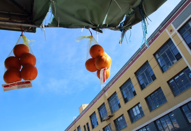 Oranges hover above 17th Street.