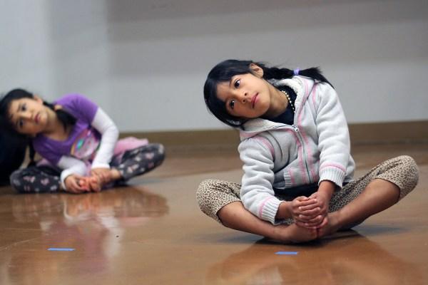 Los niños participaron en la clase Bloquito de Loco Bloco.