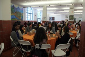 Young women and local politicians gather for a one-on-one lunch during the Tomorrow's Women Leaders Today Conference at Mission High School