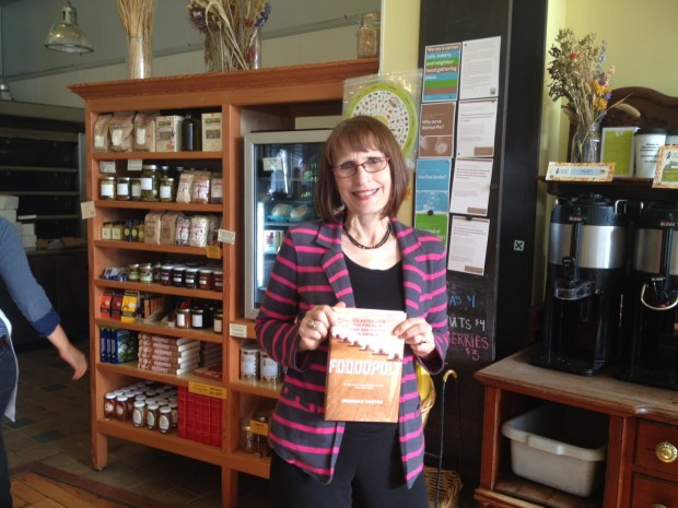 Wenonah Hauter with her new book,