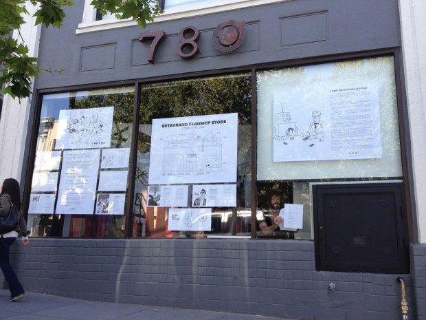 Betabrand prepares to open at 780 Valencia St. Photo by Stevanie Wazna-Blank.