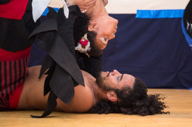Yeiner Pérez and his girlfriend, during a show in San Francisco last March. Photo by Marta Franco