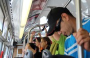 Commuters on the 14L Mission bus had to deal with crowding and high temperatures on Tuesday afternoon.
