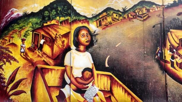 Scenes from war in past and present El Salvador. Photo by Erica Hellerstein.