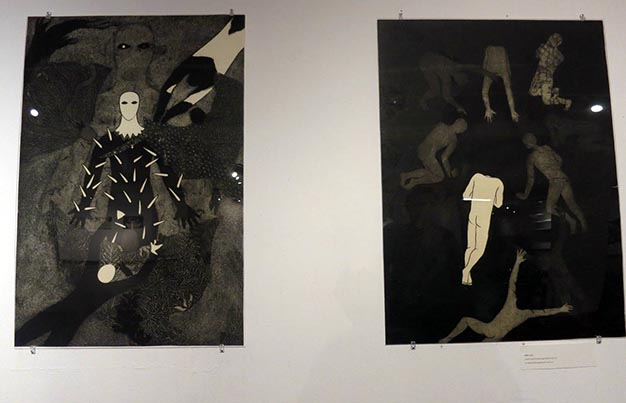 Two collographs by Belkis Ayón.