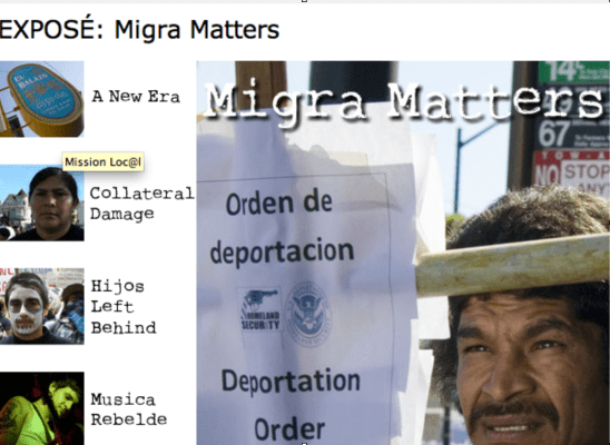 An early series prompted by Immigration Raids in the fall of 2008.