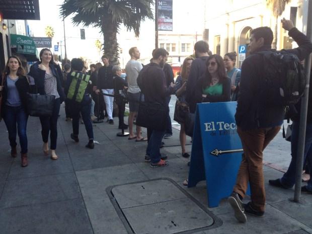 The line at Techo de Lolinda.