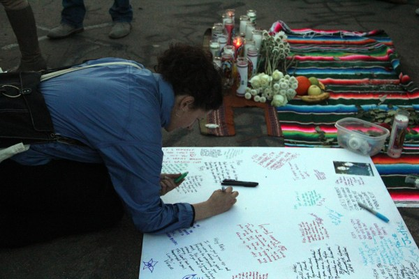 Friends and family write memories and farewells to Nieto.