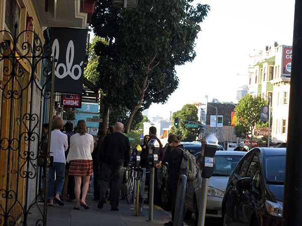 Wednesday, nearly 6 p.m. Already lining up and waiting for the doors to open.