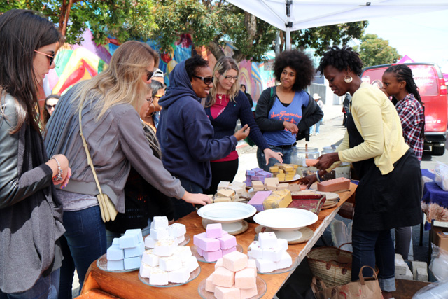 Hand crafted soap. Photo by Claire Weissbluth