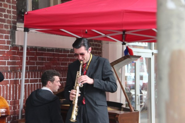 Danny Brown plays the soprano sax.