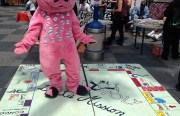 """""""Mission Monopoly,"""" on display at the Plaza 16 Festival."""