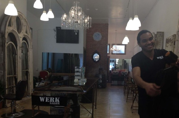 Dimitri Cornet in his new salon Werk. Photo by Lydia Chávez