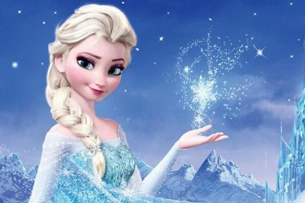 Queen Elsa of Arendelle, also known as The Snow Queen, from the animated movie Frozen via Disney.