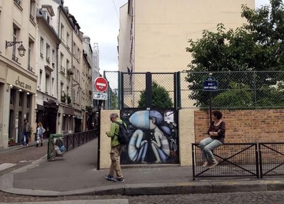 Near the Rue Moufftard.