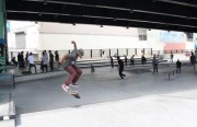 Skaters flock to the new SoMa West Skate Park, located under the Central Freeway between Mission and Valencia. Photo by Joe Rivano Barros.