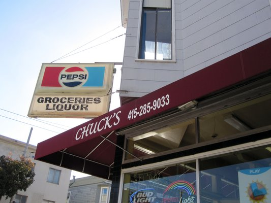 Chuck's Grocery Store, on the corner of Cortland and Bocana in Bernal Heights, closes after some 40 years. Photo from Yelp.